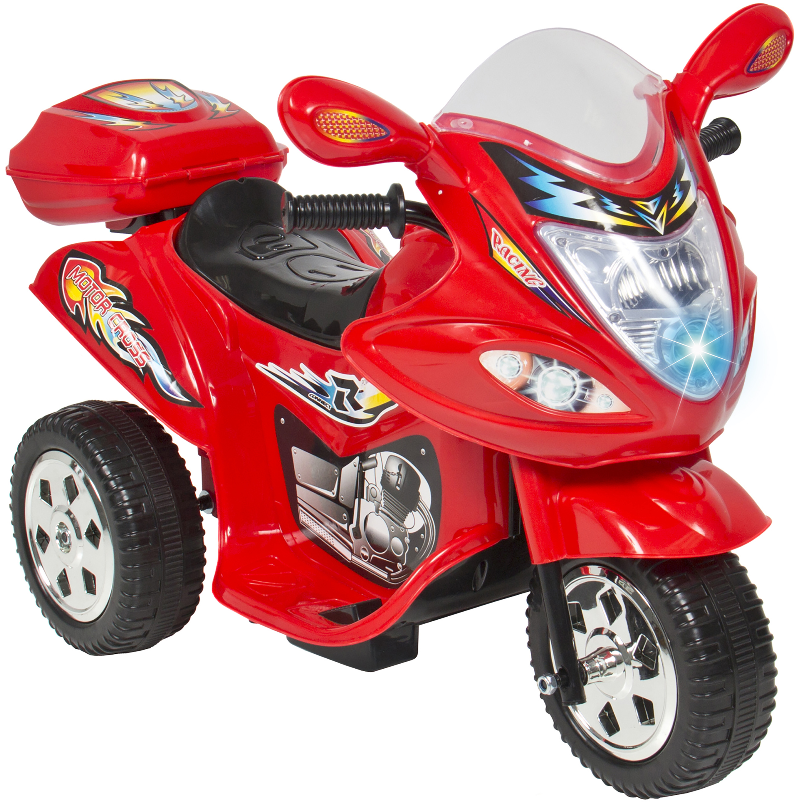 Click here to buy Kids Ride On Motorcycle 6V Toy Battery Powered Electric 3 Wheel Power Bicycle Red.