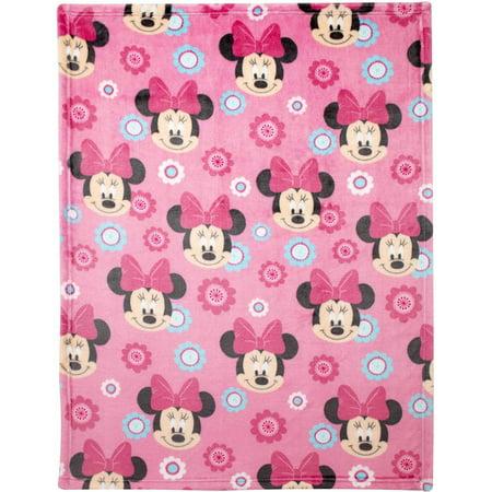 Disney Minnie Mouse Plush Printed Blanket Walmart Com