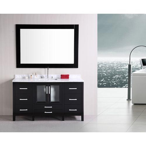 dCOR design 60'' Single Modern Bathroom Vanity Set with Mirror