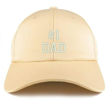 Trendy Apparel Shop Number 1 Dad Embroidered Structured Satin Adjustable Cap -