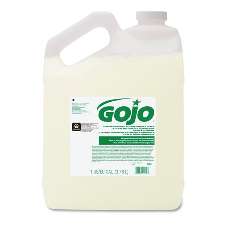 GOJO Green Certified Lotion Hand Cleaner, 1 Gallon Bottle, Floral Scent, 4/Carton (Hand Cleaner Lotion Gallon Bottle)