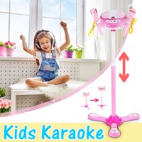 Kid Music MP3 Player Karaoke System Machine Toy Set With 2 Microphones Built in Speaker AUX Cable to Connect to All Your Electronic Devices for Music Gift