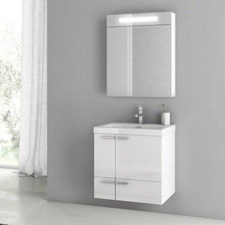 ACF by Nameeks ACF ANS03-GW New Space 23-in. Single Bathroom Vanity Set - Glossy White