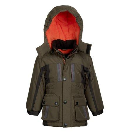 a83823112 London Fog - London Fog Boys Fleece Lined Water Resistant Hooded ...