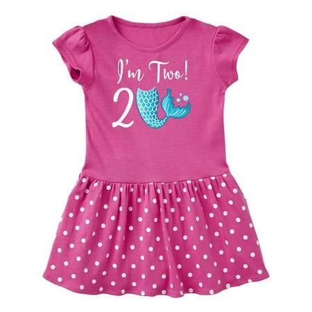 2nd Birthday Mermaid Party Toddler Dress