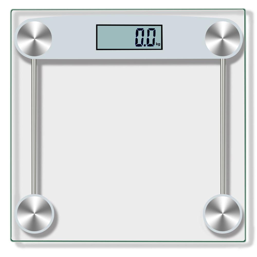Mosunx Digital Body Weight Bathroom Scale Tempered Glass 150KG/330Pound