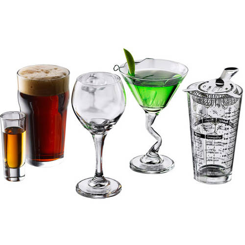Libbey 18-Piece Barware and Glassware Starter Set