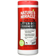 Natures Miracle Litter Box Scrubbing Wipes 30 Count, Removes Stubborn, Caked-On Debris