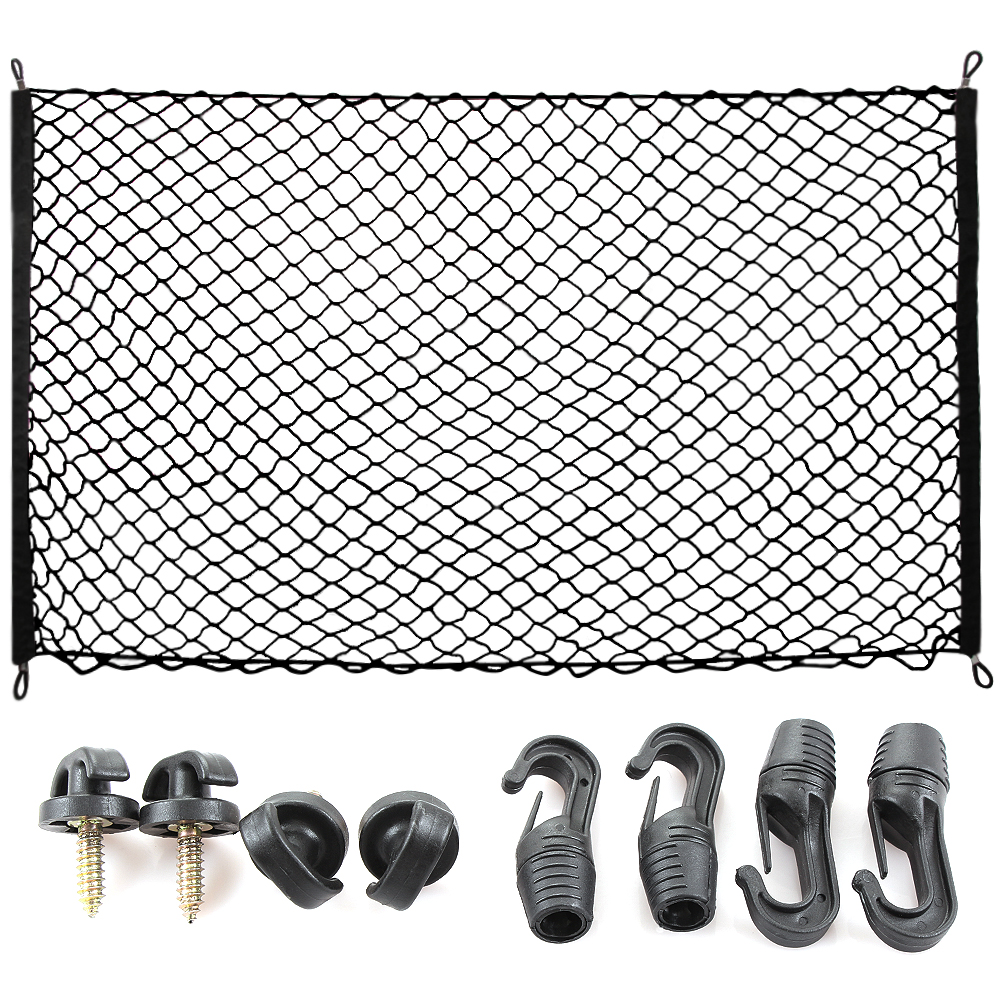Cargo Net for SUV,Truck Bed or Trunk, 41 x 25 Inches Elastic Nylon Mesh Universal Rear Car Organizer Net