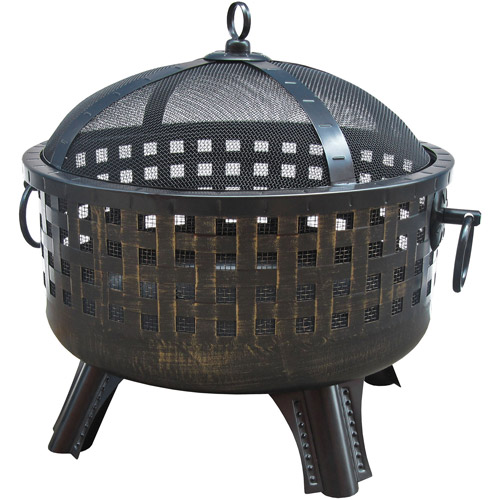 Landmann USA Garden Lights Savannah Firebowl, Antique Bronze