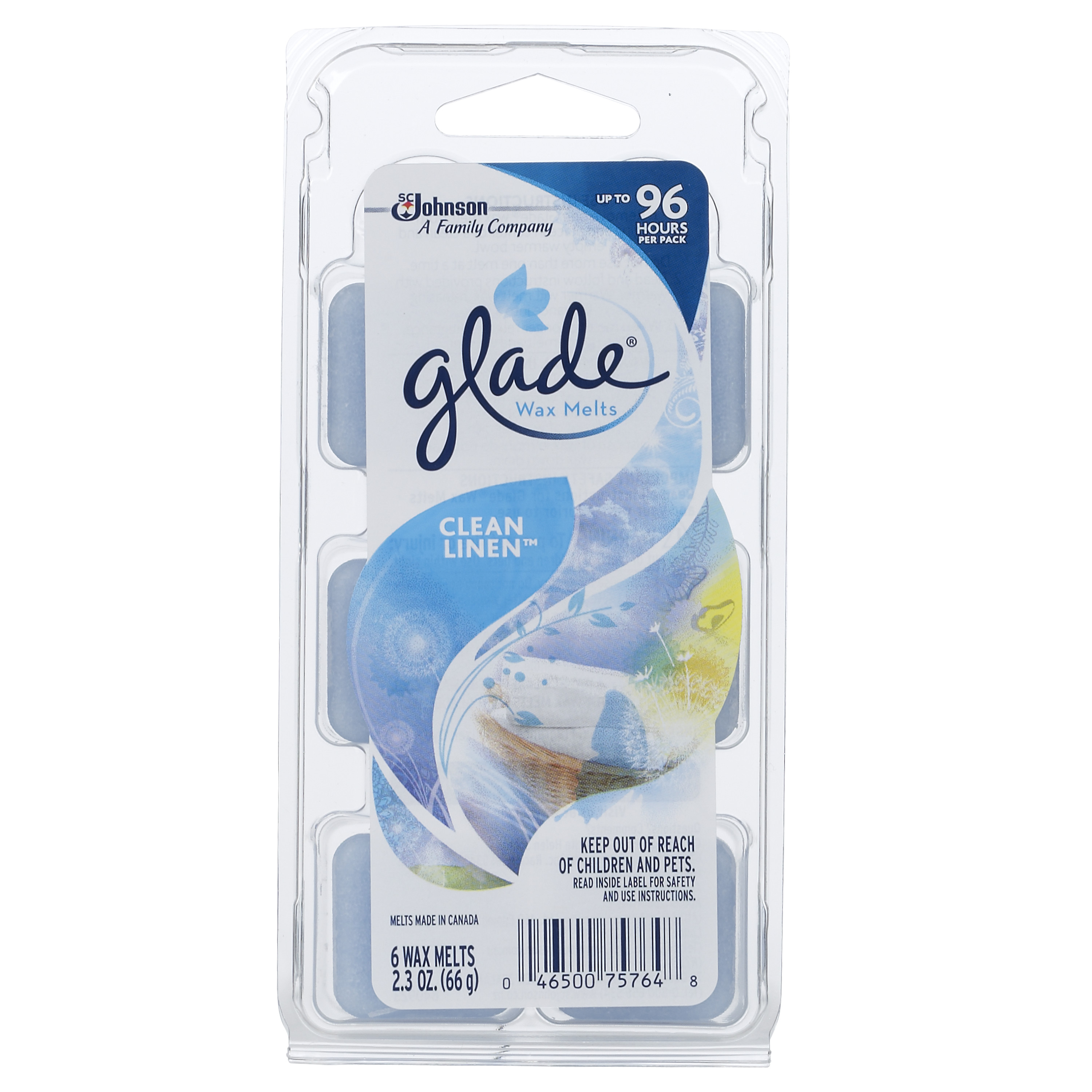 Glade Wax Melts, Clean Linen, 2.3 Oz. (Pack of 6)