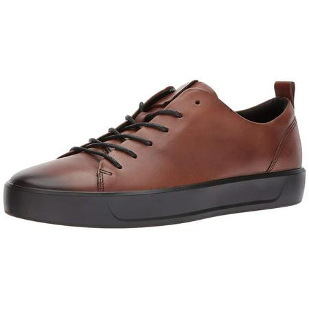 ECCO Men's Soft 8 Tie Fashion Sneaker, LionBlack, 7.5 8 M US