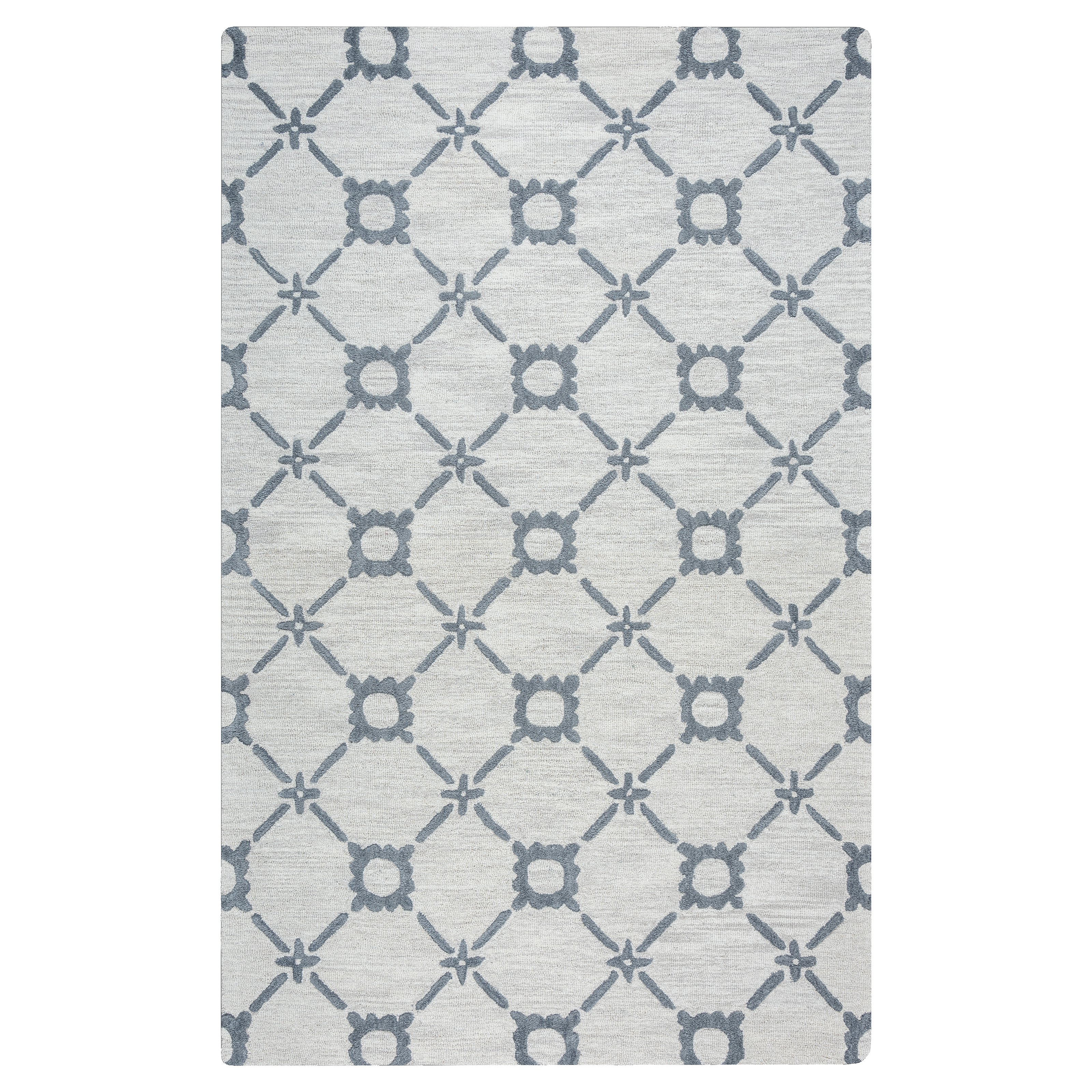 Rizzy Home Lunicca Hand-Tufted Gray Area Rug