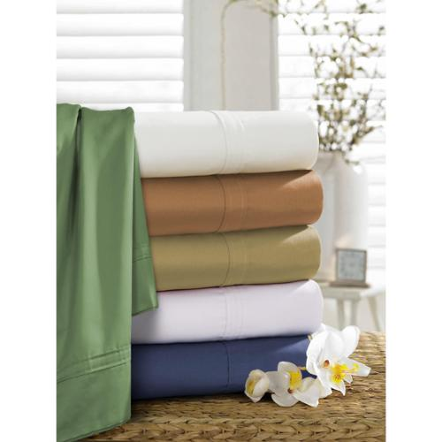 Egyptian Cotton 500 Thread Count Extra Deep Pocket Solid Sheet Set Queen - Midnight Blue