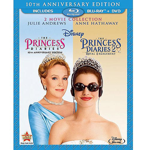 The Princess Diaries: 10 Anniversary Edition / The Princess Diaries 2: Royal Engagement (Blu-ray + DVD))