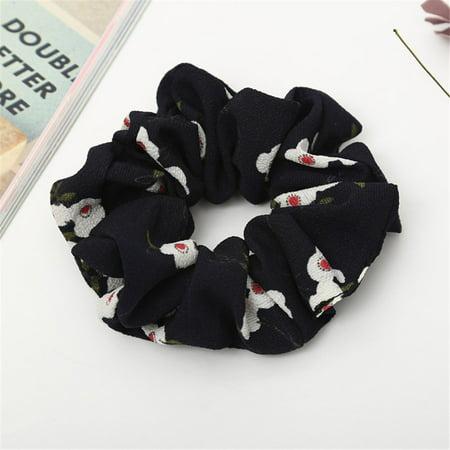 Women Elastic Hair Rope Ring Tie Scrunchie Ponytail Holder Hair Band Headband