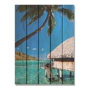 Day Dream HQ TP1624 16 x 24 in. Tropical Paradise Inside & Outside Cedar Wall Art