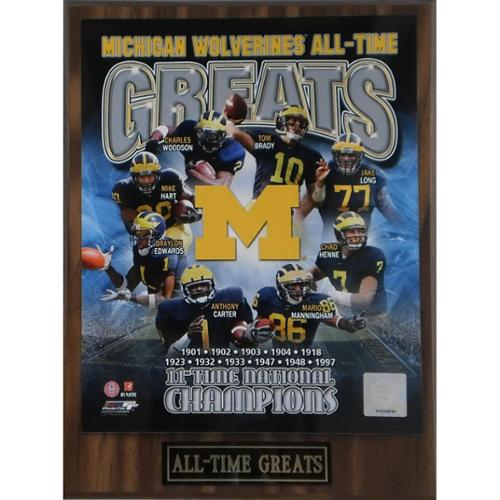 Michigan Wolverines 'All Time Greats' Plaque