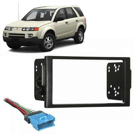 Fits Saturn Vue 2004-2005 Double DIN Stereo Harness Radio Install Dash Kit (Vue Stereo)