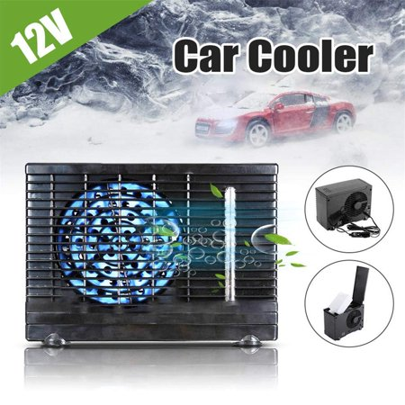 Dilwe Portable Car Conditioner Fan, 12V Mini Evaporative Water Cooler Cooling Fan Universal Electric Air Conditioner for Home Car Truck Office (In Car Fan)