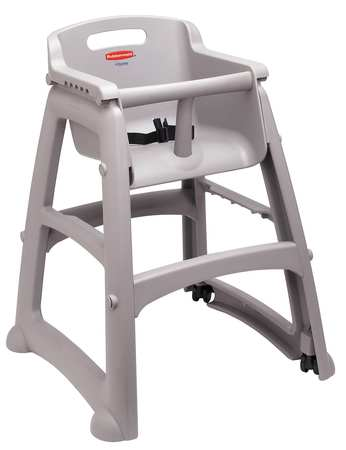 RUBBERMAID FG780608PLAT Youth High Chair, Platinum by Rubbermaid
