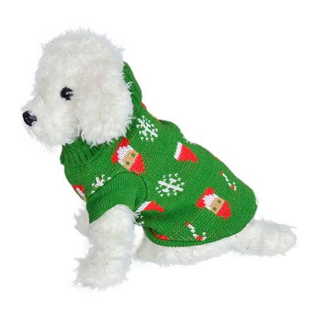 Dog Wedding Outfits (Christmas Pet Sweater Dog Autumn Winter Knitting Clothes T-shirt)