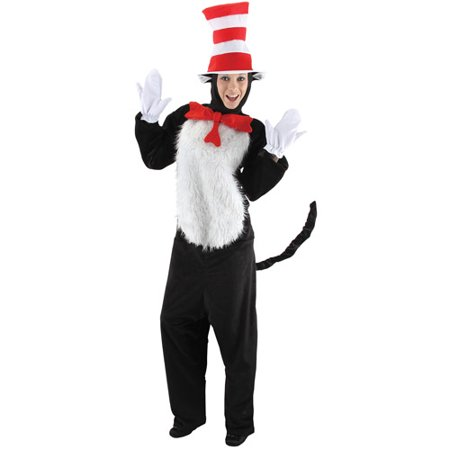 Dr. Seuss Cat in the Hat Adult Halloween Costume - Dr Seuss Who Costumes