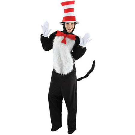 Dr. Seuss Cat in the Hat Adult Halloween Costume (Halloween Cat Noises)