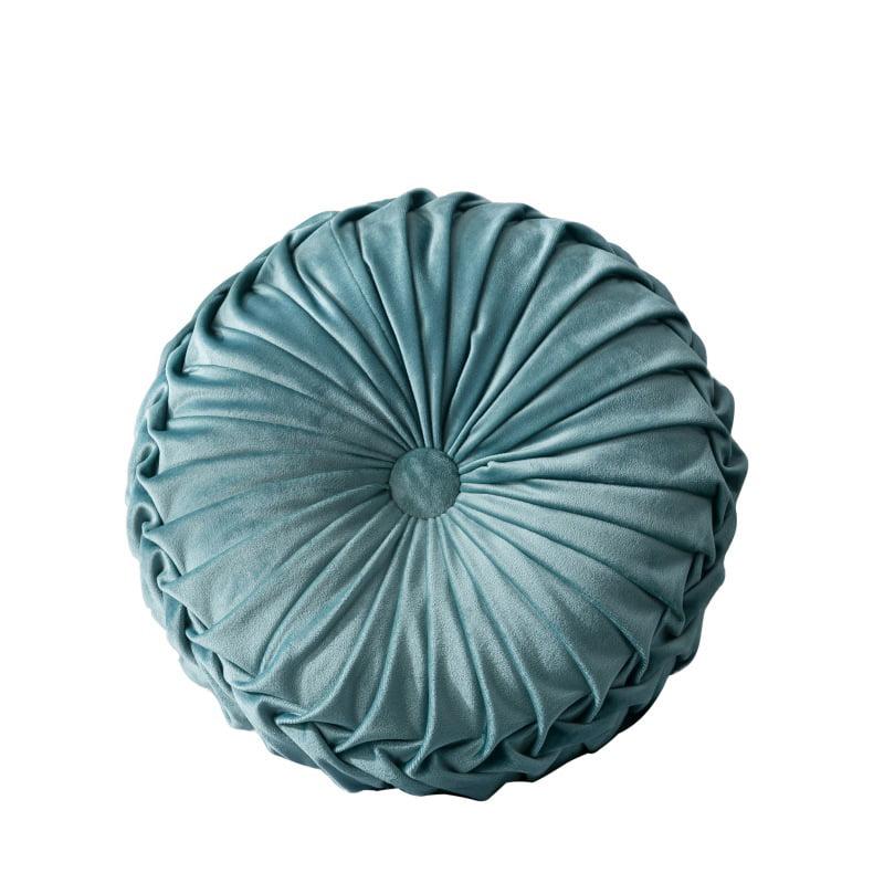Plush Pleated Round Floor Cushion Pillow Pouf Cover Throw Home Sofa Decor
