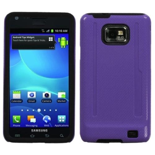 Insten Solid Purple/Black Fusion Case for SAMSUNG: I777 (Galaxy S II)