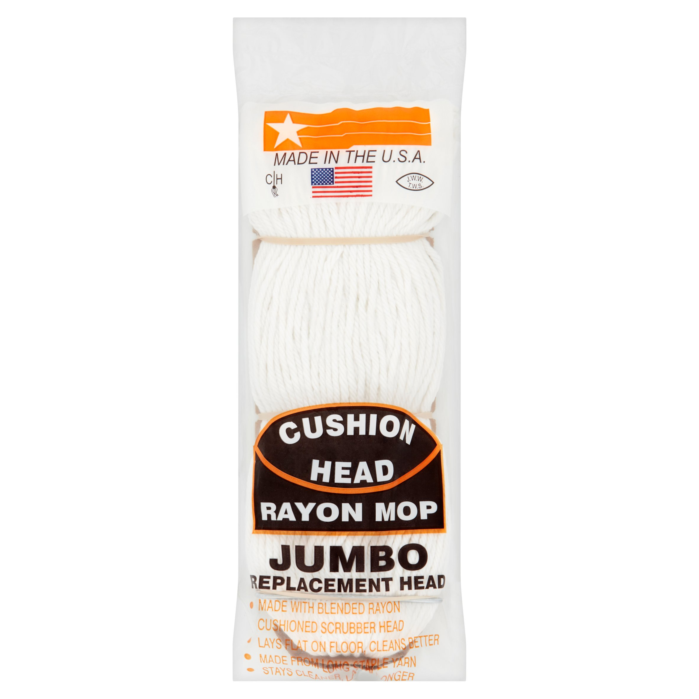 Cushion Head Jumbo Rayon Mop Replacement Head