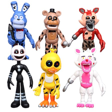 Antsir 6 Pcs Five Nights At Freddys Fnaf Action Figures Bonnie Chica Foxy Bear Figurines Kids Toys Gifts