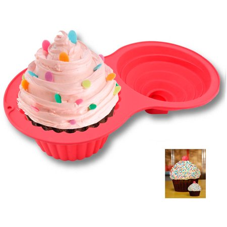 Sorbus Jumbo Cupcake Mold Silicone Cake Mold, Non-Stick, Easy To Clean, Oven, Microwave, Dishwasher and Freezer Safe, Heat Resistant Up To 450 Degrees F