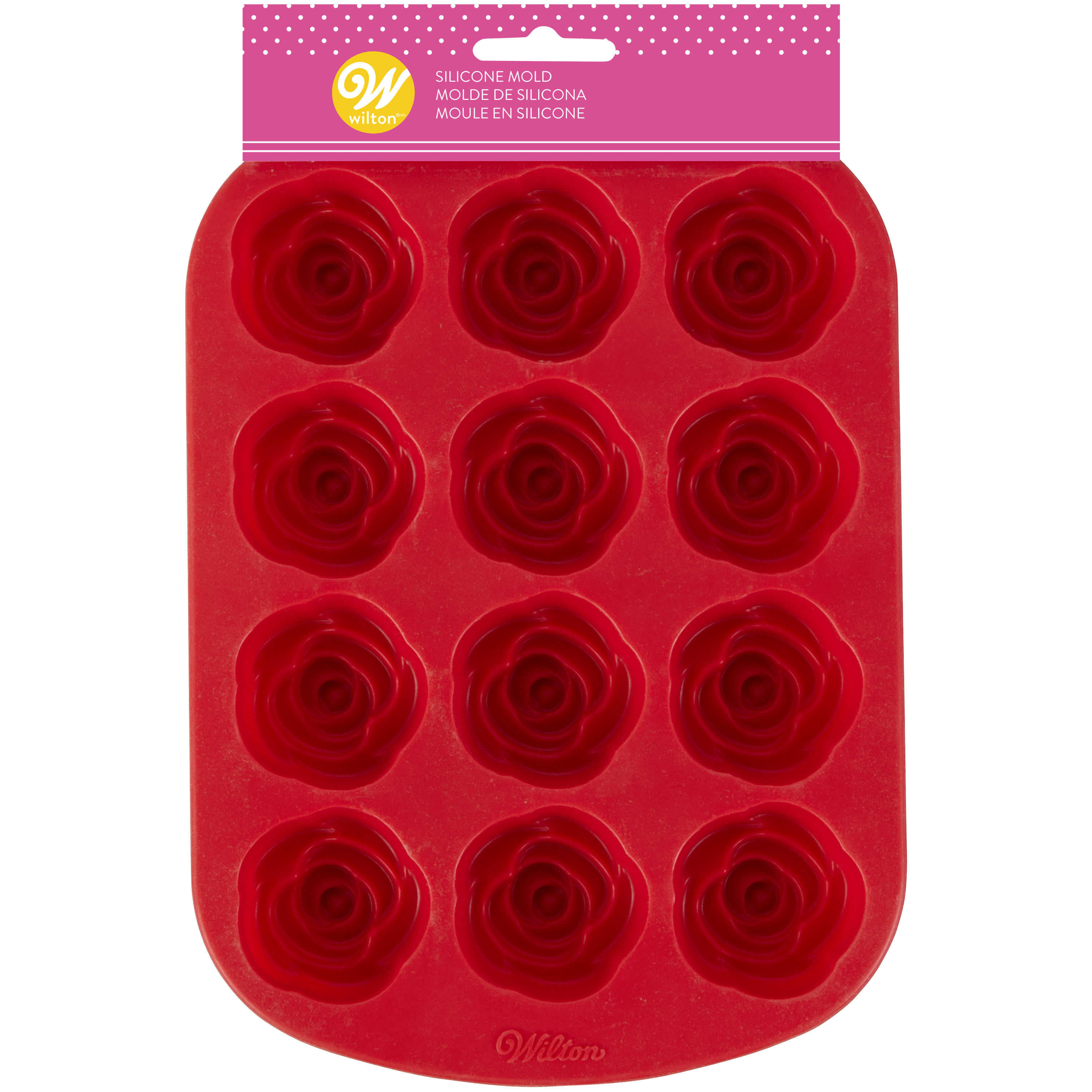 Wilton Valentine's Day Rose Silicone Mold, 12 cavity by Wilton Industries Inc.