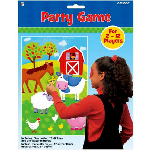 Barnyard Farm Animals Party Game Poster (1ct)