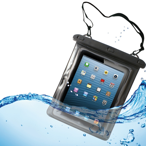 Premium Waterproof Case Transparent Bag Cover with Touch Screen 92 for Amazon Kindle Fire HD 8.9 HDX 8.9 - iPad Air 2, Mini 2 3 4, Pro 9.7 - Samsung Galaxy Tab S2 NOOK 8.0 (SM-T710)