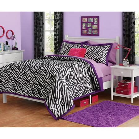 Your Zone Zebra Reversible Comforter set, 1 Each