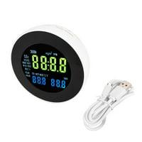 HERCHR CO2 Meter, US Plug CO2 Meter Temperature Hygrometer Digital Portable Analyzer Gas Monitor Tester, CO2 Alarm