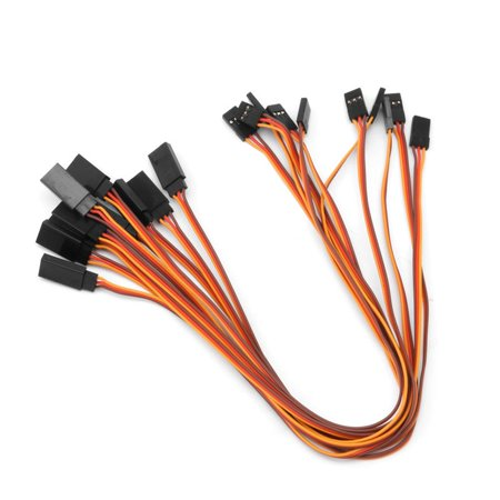 10pcs Servo Extension Lead Wire Cable For Remote Control Futaba JR Male To Female S-video Cable Radio Shack