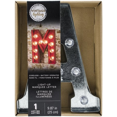 """Silver Metal Marquee Letter 9.875""""-a"""
