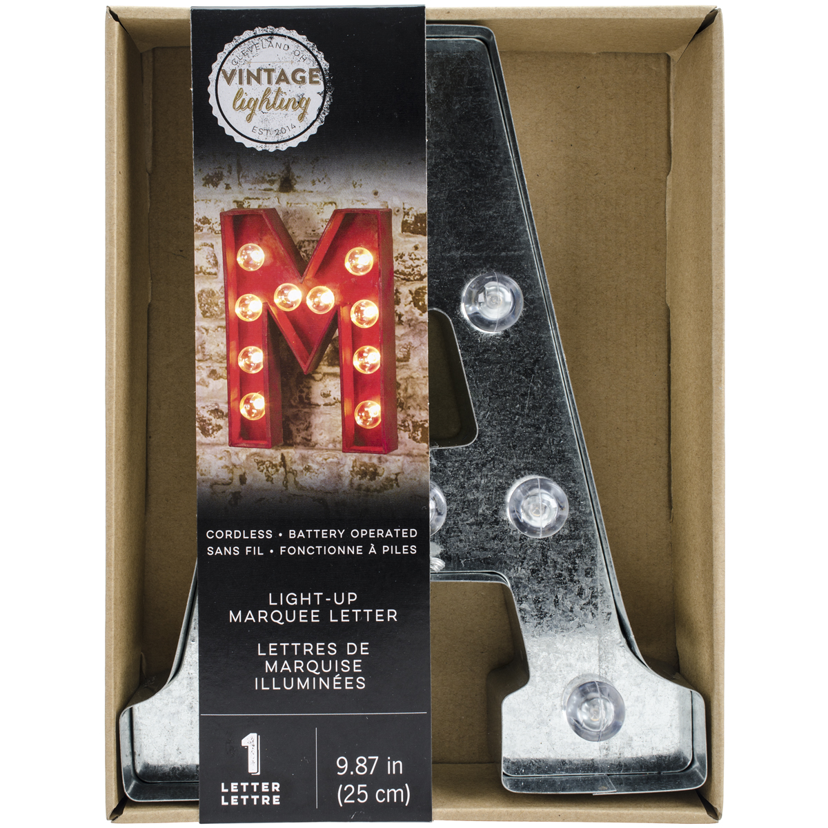 "Silver Metal Marquee Letter 9.875""-a"