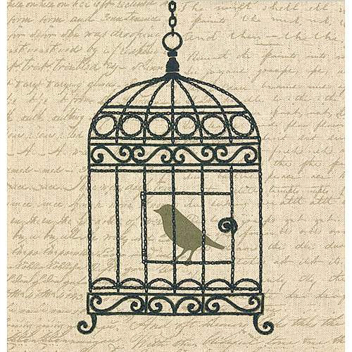 "Dimensions Handmade Collection Vintage Birdcage Stamped Embroidery Kit-11""X11"""