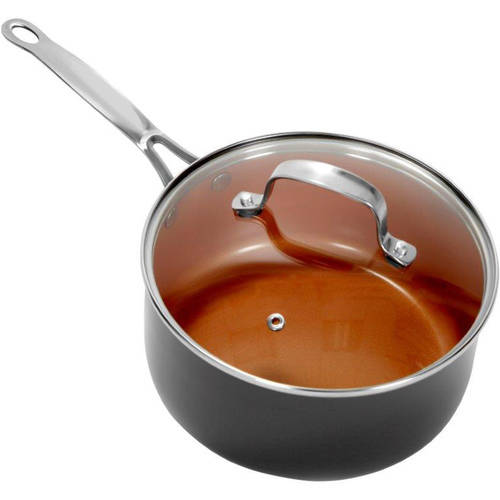 Gotham Steel Ceramic and Titanium Nonstick 3-Quart Pot with Lid