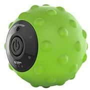 Sedona, 4 Speed Vibrating Massage Ball, Rechargeable Textured Foam Roller, Muscle Tension Pain and Pressure Relieving Fitness Massaging Balls, Myofascial Release for Feet Arms Back and Neck, Green