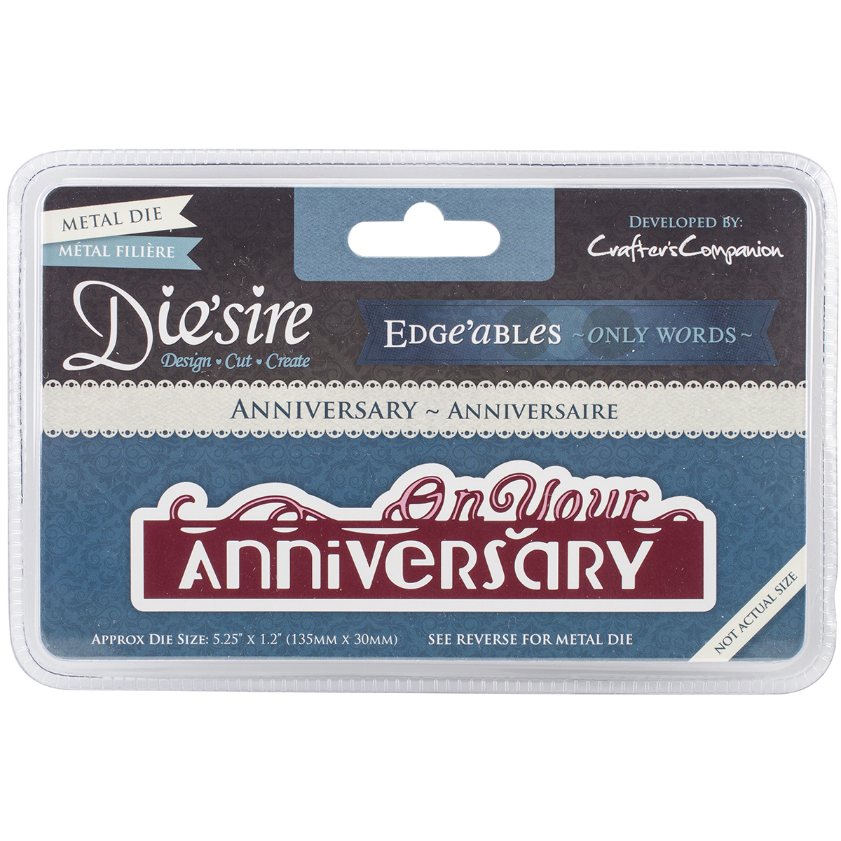 Crafter's Companion Anniversary Die 'sire Edge'ables Cutting & Embossing Die