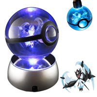 Baken 3D Crystal Ball LED Night Light with LED Keychain Laser Engraving (Dawn Wing Necrozma)
