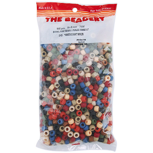 The Beadery Pony Beads 6x9mm, 900-Pack