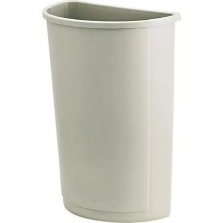 21 Gallon Rubbermaid Untouchable Beige Half Round Trash Can - Half Round Trash Cans