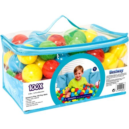 Bestway Up, In and Over Splash and Play 100 Play Balls (Wholesale Ball Pit Balls)