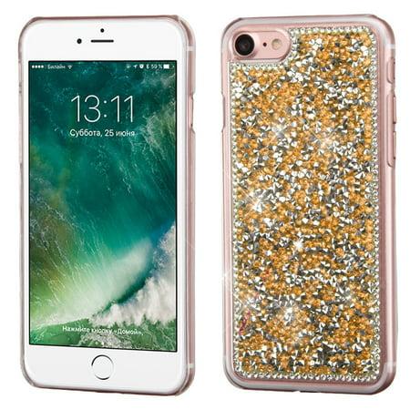 MyBat Rose Gold Mini Crystals Rhinestones Desire Hard Case Back Cover For Apple iPhone 8 / iPhone 7 ()